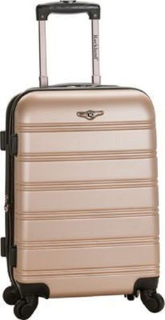 Carry on luggage hard shell suitcase wheels 20 in telescopic handle rolling tuff #Melbourne
