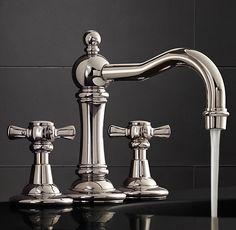 "Vintage 8"" Widespread Faucet Set"