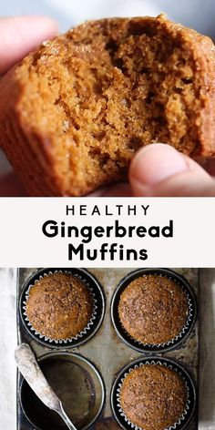 Keto Snacks Discover Healthy Gingerbread Muffins Healthy gingerbread muffins that are incredibly fluffy warm and perfect with a cup of coffee. One of my favorite muffins to enjoy during the Winter. 134 calories per muffin! Smores Dessert, Bon Dessert, Healthy Muffins, Healthy Sweets, Healthy Muffin Recipes, Healthy Savoury Snacks, Apple Recipes Easy Quick, Low Calorie Muffins, Clean Eating Muffins