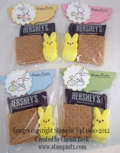StampinTX: Stampin Up! Easter Projects - Treat Bags