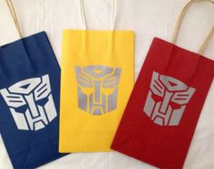 Transformer Goody bags by KBsKraftKorner on Etsy Transformers Birthday Parties, 6th Birthday Parties, Third Birthday, Birthday Fun, Birthday Ideas, Transformer Party, Rescue Bots Birthday, Cumple Paw Patrol, Niklas