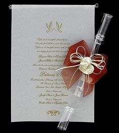 Invitation Scroll Tube with Bow
