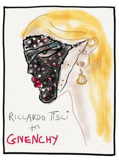 Illustration by Gladys Perint Palmer, Riccardo Tisci for Givenchy.