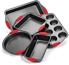 Elite Bakeware Ultra NonStick Baking Pans Set of 5  Premium Bakeware Set *** Find out more about the great product at the image link.