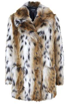 Manteau ample en fourrure synthétique - Manteaux - Vêtements - Topshop