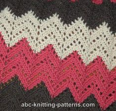 ABC Knitting Patterns - Lace Ripple Afghan .
