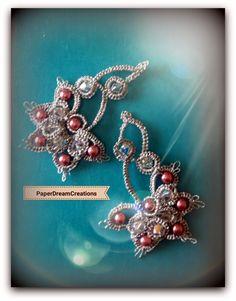 Ecco una versione in rosa/argento dei miei orecchini | Blog di paperdreamcreations