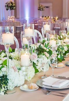 21 Chic Wedding Flower Decor Ideas ❤ simply chic wedding flower decor ideas candle table decor vuephoto #weddingforward #wedding #bride