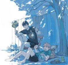 Kageyama x Hinata Kagehina, Kageyama X Hinata, Haikyuu Yaoi, Haikyuu Ships, Anime Manga, Anime Art, South Park, Gekkan Shoujo Nozaki Kun, Kurotsuki