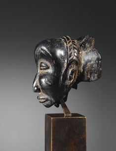 "LUBA RELIQUARY HEAD, ATTRIBUTED TO THE ""MASTER OF THE BULI"", DEMOCRATIC REPUBLIC OF THE CONGO"