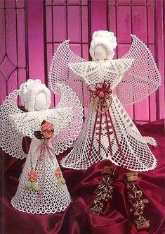 Елегантні різдвяні Ангели гачок