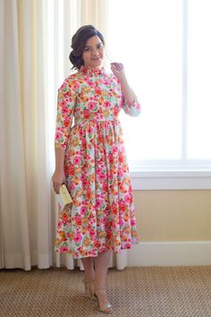 Shop now for Modern Modest Vintage Apparel. Tons of Adorable Dresses, Bridesmaid Dresses, Tops, Skirts, Swimwear. We also have MODEST Fashionable Apostolic Swimwear! Modest Dresses For Women, Modest Bridesmaid Dresses, Modest Skirts, Modest Outfits, Stylish Dress Designs, Stylish Dresses, Casual Dresses, Frock Fashion, Modest Fashion