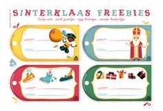 Sinterklaas freebies / printables from Miriam Bos Christmas In Holland, Christmas Holidays, Gift Labels, Gift Tags, Craft Activities For Kids, Crafts For Kids, Saints For Kids, Pretty Packaging, Free Prints