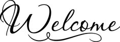 Welcome Sticker Vinyl Decal Wall Home Decor Quote home