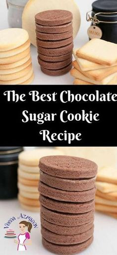 These Chocolate Sugar Cookies are a delicious treat weather you choose to decorate them or eat them just as is with a cup of coffee. Based on my classic butter cookie recipe these are soft, crisp and buttery. They do not spread making them ideal for shaped and decorated custom cookies