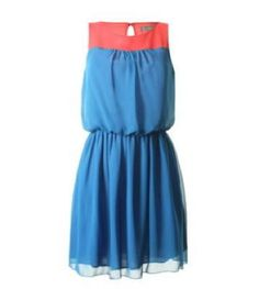 Love Label Cobalt and Watermelon Contrast Yoke Dress Love Label, Clothes Line, Dress Skirt, Contrast, Summer Dresses, Princess, Skirts, How To Wear, Collection