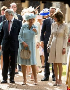 Camilla, Duchess of Cornwall, Michael Middleton, James Middleton & Carole Middleton from Princess Charlotte's 2015 Christening
