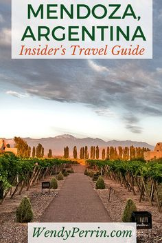 Where to stay, what to do, and most important, what to drink in Mendoza, Argentina's wine country.