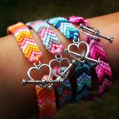 I pinned this jewelry design from Hippopotamuspie for 15% off ~ 1 Customized Friendship Bracelet with Silver by hippopotamuspie, $5.00 @Venus Hui #venushui