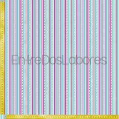 Tela de patchwork Riley Blake Mod. Sweetcakes stripes blue.