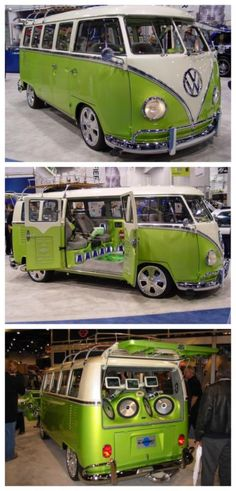Cool! Volkswagen Camper like no other - that sound system will blow you away! #spon #autoawesome