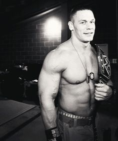 John Cena i don't think its possible for him to get any sexier.....Can I please have him...like all to myself....please