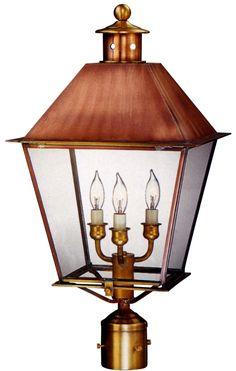 21 awesome post lights post heads post mount copper lanterns rh pinterest com