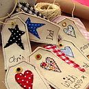 personalised tag - hearts & stars by sew very english | notonthehighstreet.com
