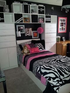 Zebra themed room