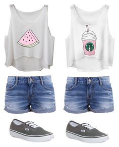 """Me and Julie"" by maybeckc ❤ liked on Polyvore featuring Vans"