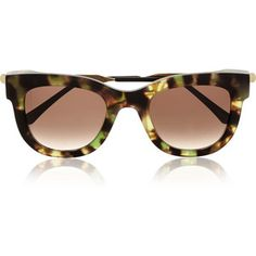 Thierry LasrySexxxy D-frame Acetate And Gold-plated Sunglasses