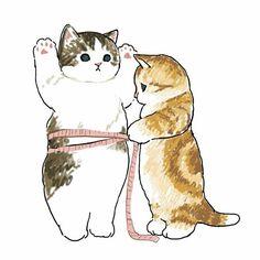 Kittens Cutest, Cats And Kittens, Cute Cats, Cute Animal Drawings, Cute Cat Drawing, Drawing Art, Cat Wallpaper, Disney Wallpaper, Cute Cartoon Wallpapers