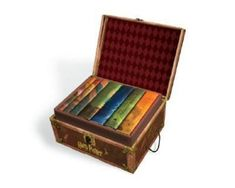 Harry Potter Box Set (USA Edition) in trunk with Stickers