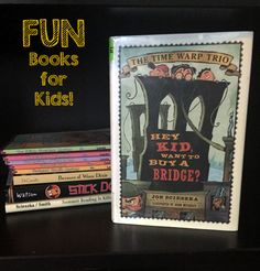 "Looking for a fun book for boys or a historical fiction book for school? We suggest ""Hey Kid, Want to Buy a Bridge."" Read our review to find out why."