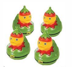 Set of 4 Christmas Elf Rubber Duck Ducks Duckys Duckies Cake Cupcake 13746343 | eBay