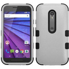 MYBAT TUFF Hybrid Motorola Moto G 3rd Gen Case - Gray/Black