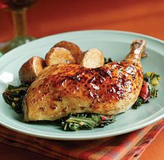 Maple-Thyme Roast Chicken