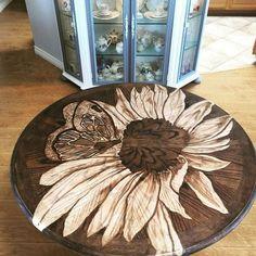 Wood Mosaic, Mosaic Wall Art, Diy Wall Art, Diy Table, Wood Table, Duck Egg Blue Dresser, Hardwood Floors Restore, Wood Staining Techniques, Painted Furniture