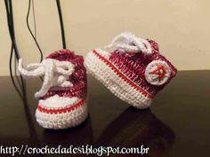 ✿Artes da Desi✿: All Star em Crochê para bebê