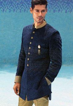 Soma Sengupta Fashion for the Indian Man- Navy!
