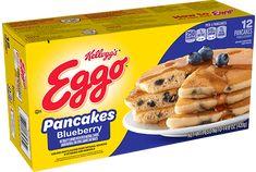 Eggo Pancakes, Freeze Pancakes, Buttermilk Pancakes, Blueberry Waffles, Blueberry Juice, Sweet Recipes, Snack Recipes, Cooking Recipes, Cupcake Recipes