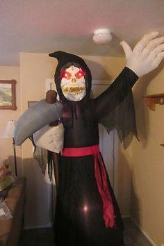 Huge 8 ft Gemmy Airblown Inflatable Grim Reaper Halloween Yard Decor Motion | eBay
