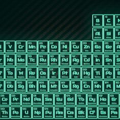 'Tritium Green Glowing Tube Periodic Table' by sciencenotes Periodic Table S, Periodic Table Of The Elements, Chemistry, It Works, Tube, Glow, Green, Sparkle, Nailed It