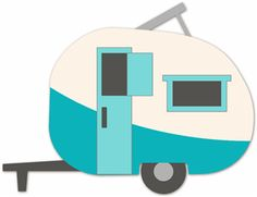 Silhouette Online Store - View Design #9975: caravan camper