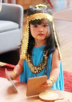 DIY Halloween costume idea for toddler: Cleopatra!