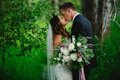 Kallie & Chris were married at Elkview Lodge in Fernie, BC and had a sparkling blush pink wedding that included a romantic helicopter ride! Florist: The Green Petal Blush Pink Weddings, Wedding Flowers, Wedding Dresses, Rocky Mountains, Wedding Styles, Bouquets, Wedding Inspiration, Sparkle, Romantic