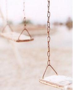Copper Chain Swing Set