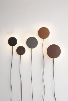 Leather Lamps by Norm Architects at Nordkraft's Exhibition - Nordic Design Interior Lighting, Lighting Design, Wall Lighting, Modern Lighting, Lighting Ideas, Bedroom Lighting, Brass Lamp, Nordic Design, Lamp Light