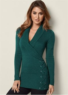 Come explore stylish sweaters & cardigans for women at VENUS. With styles like sleeveless and turtleneck, we have everything you need to look and feel your best this season. Sexy Outfits, Fashion Outfits, Latest Fashion For Women, Womens Fashion, Colored Skinny Jeans, Mix And Match Bikini, Cardigans For Women, Autumn Fashion, Dresses For Work