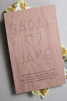 wedding invitation- this looks engraved?